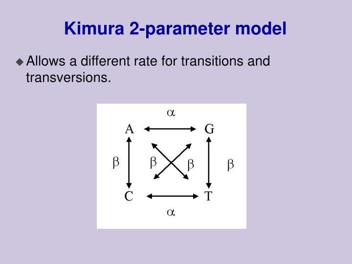 Kimura 2-parameter model