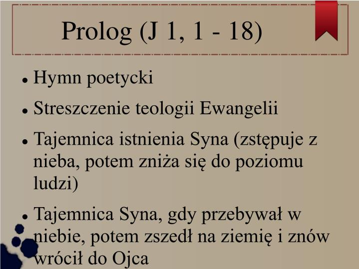 Prolog (J 1, 1 - 18)