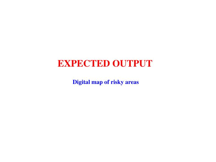 EXPECTED OUTPUT