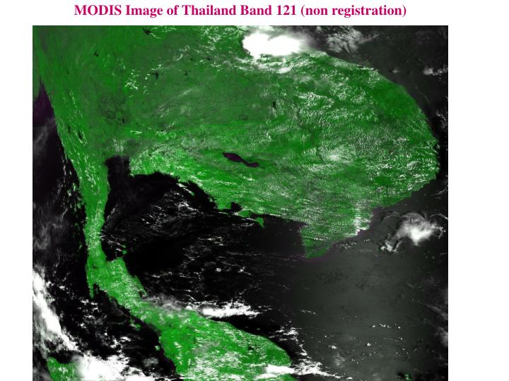 MODIS Image of Thailand Band 121 (non registration)