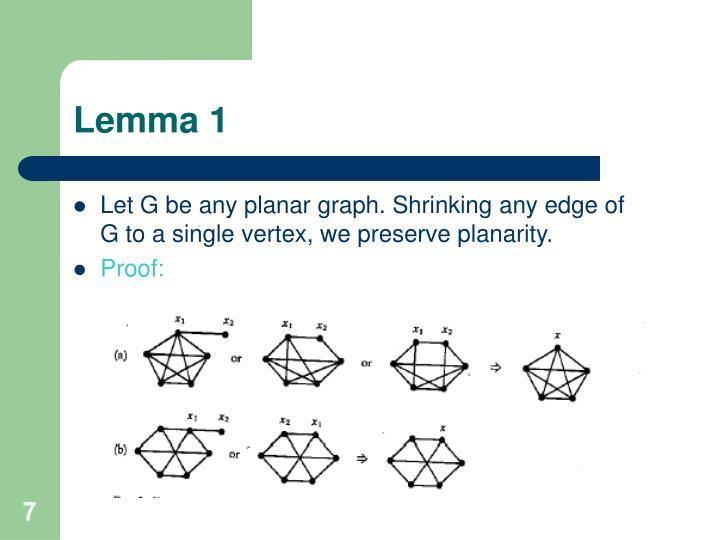 Lemma 1