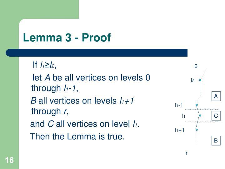 Lemma 3 - Proof