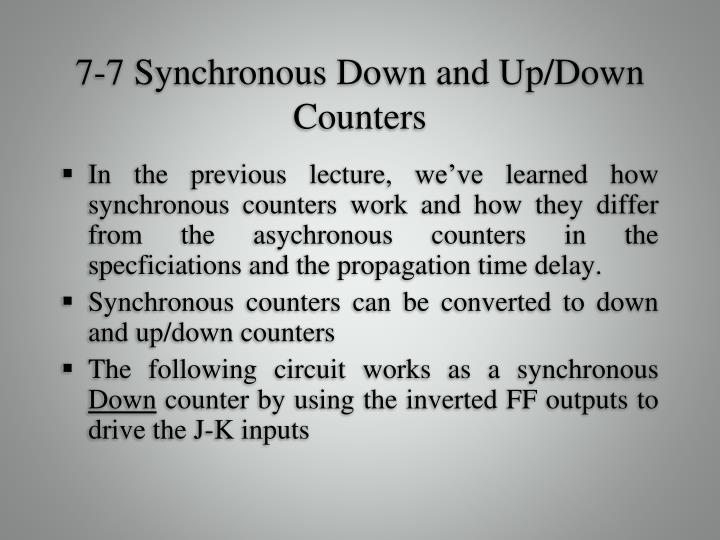 7 7 synchronous down and up down counters