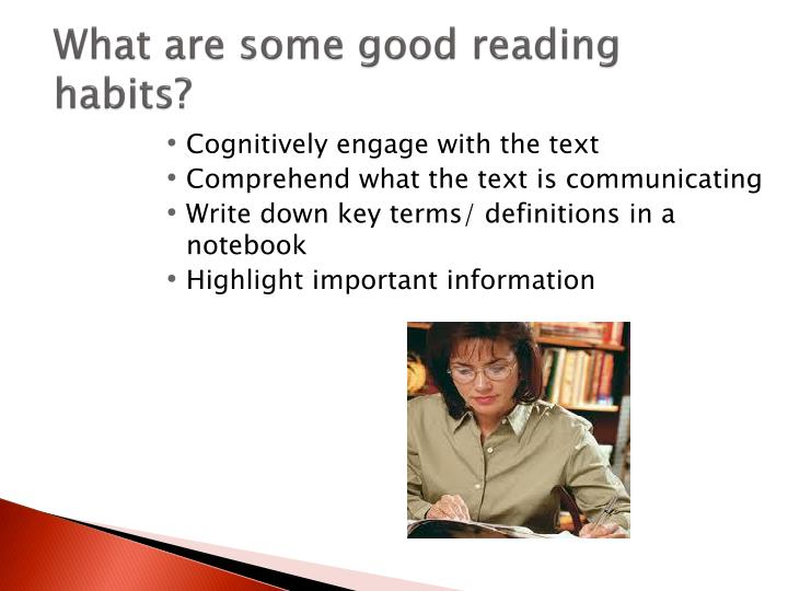 What are some good reading habits?