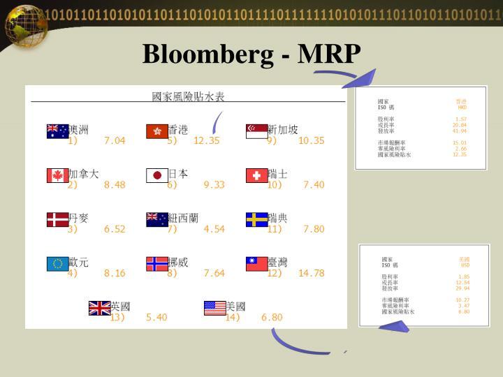 Bloomberg - MRP