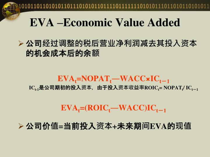 EVA –Economic Value Added