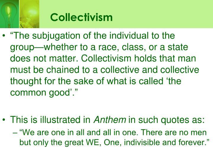 Collectivism