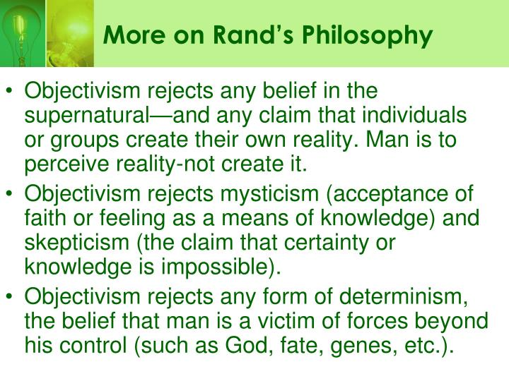More on Rand's Philosophy