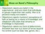 more on rand s philosophy