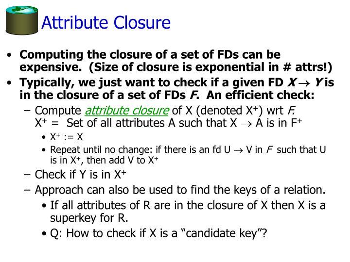 Attribute Closure