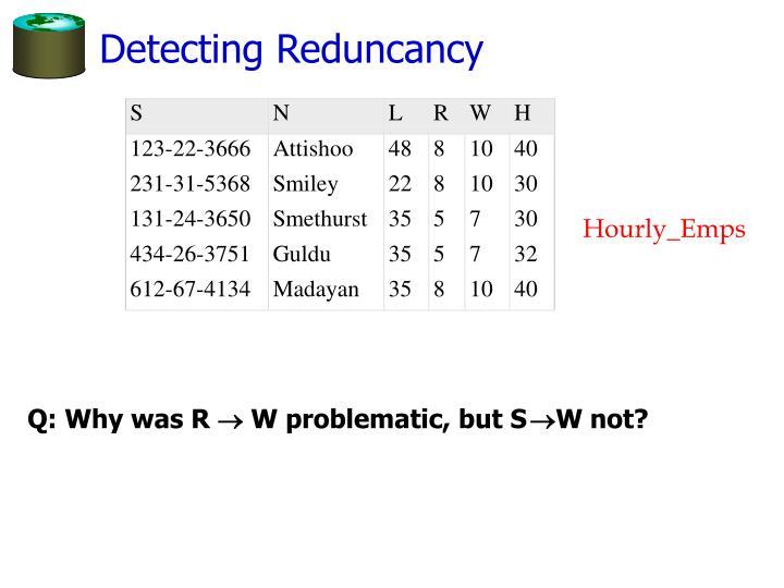 Detecting Reduncancy