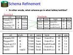 schema refinement