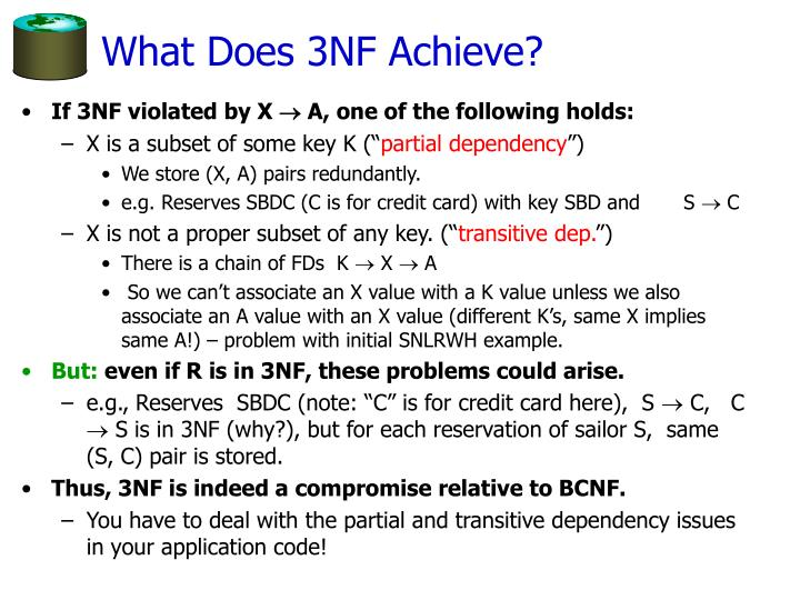 What Does 3NF Achieve?