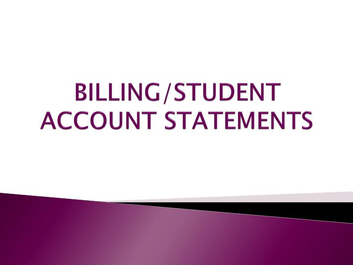 Billing student account statements