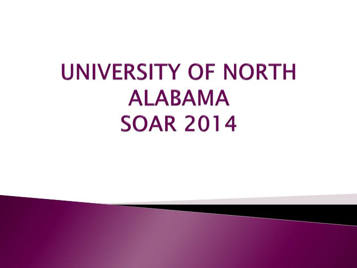 University of north alabama soar 2014