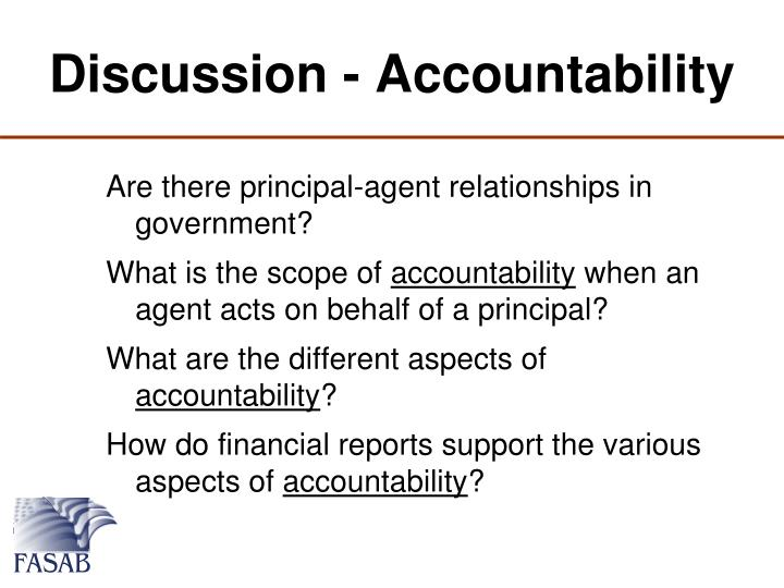 Discussion - Accountability