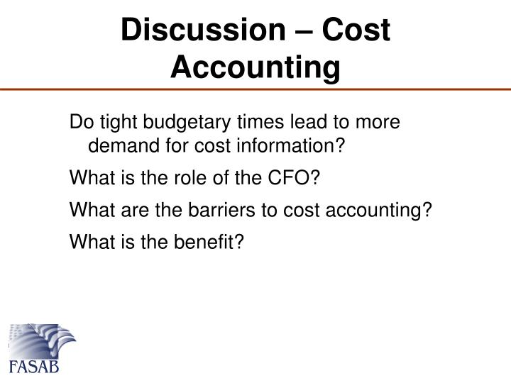 Discussion – Cost Accounting