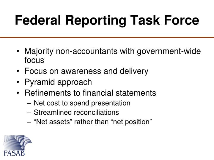 Federal Reporting Task Force