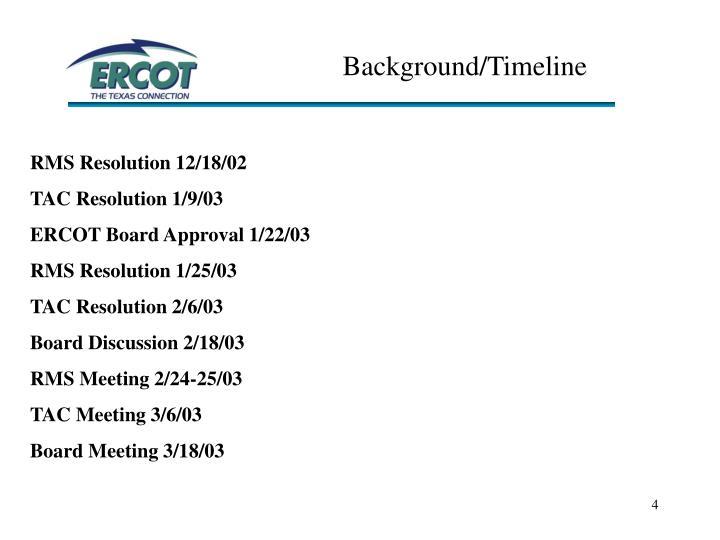 Background/Timeline