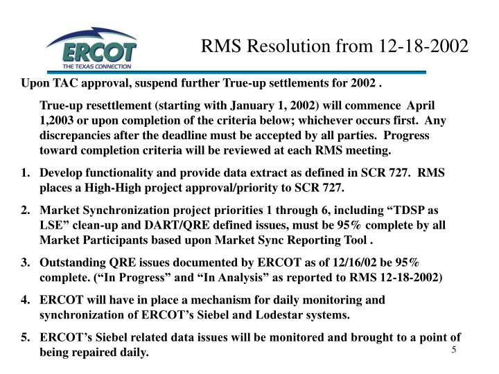 RMS Resolution from 12-18-2002