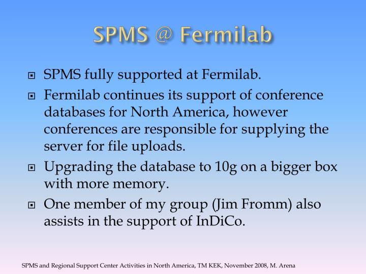 SPMS @ Fermilab