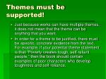 themes must be supported
