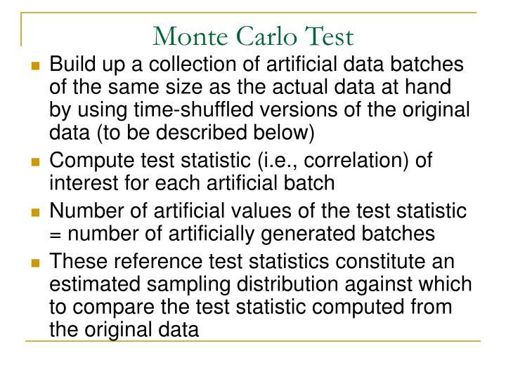 monte carlo test