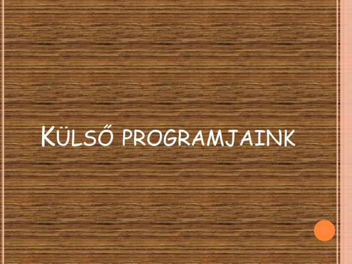 Külső programjaink
