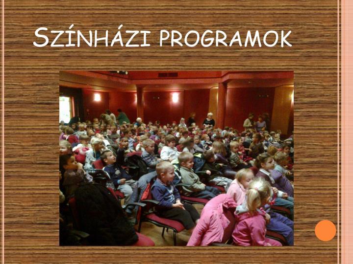 Színházi programok