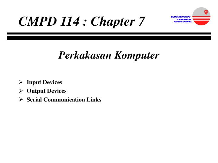 CMPD 114 : Chapter 7