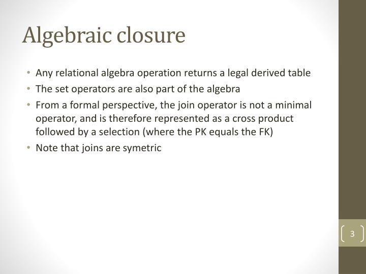 Algebraic closure