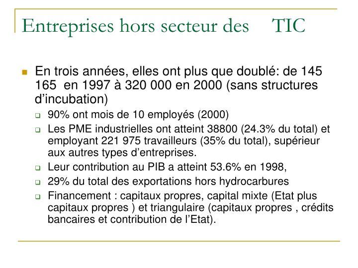 Entreprises hors secteur des TIC