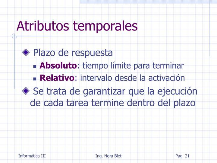 Atributos temporales