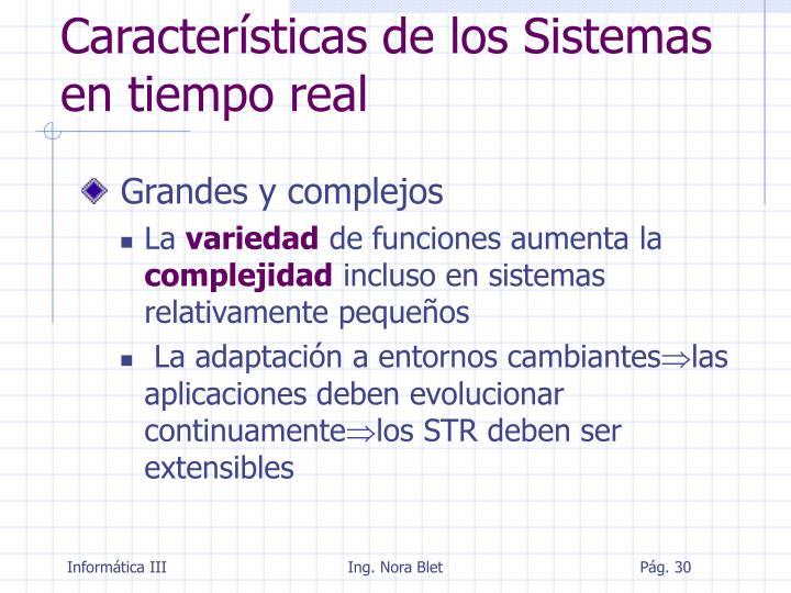 Características de los Sistemas en tiempo real