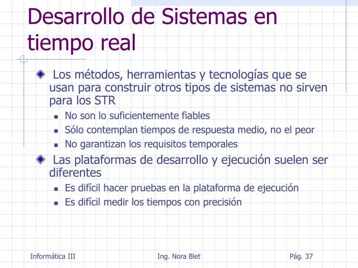 Desarrollo de Sistemas en tiempo real