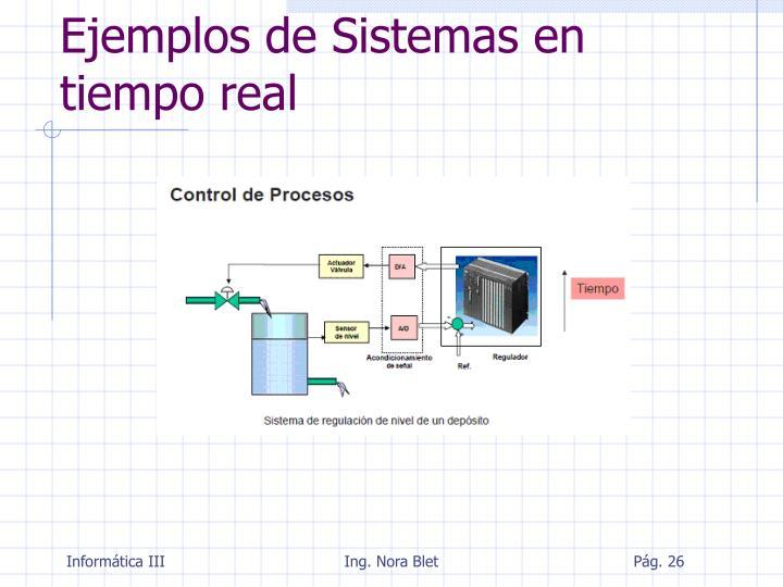 Ejemplos de Sistemas en tiempo real