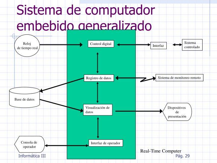 Sistema de computador embebido generalizado