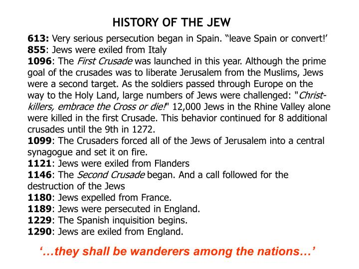 HISTORY OF THE JEW