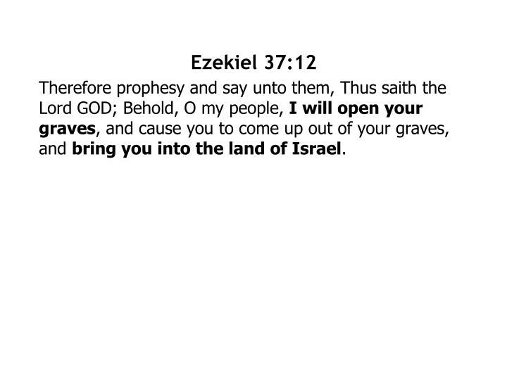 Ezekiel 37:12