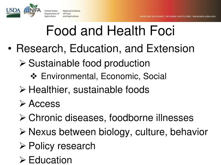 Food and Health Foci