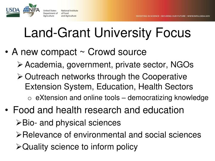 Land-Grant University Focus