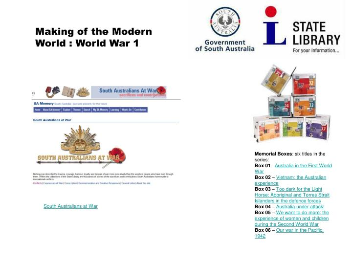 Making of the Modern World : World War 1