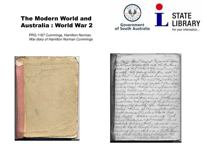 The Modern World and Australia : World War 2