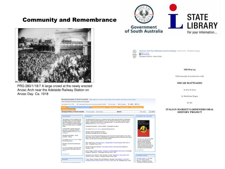 Community and Remembrance