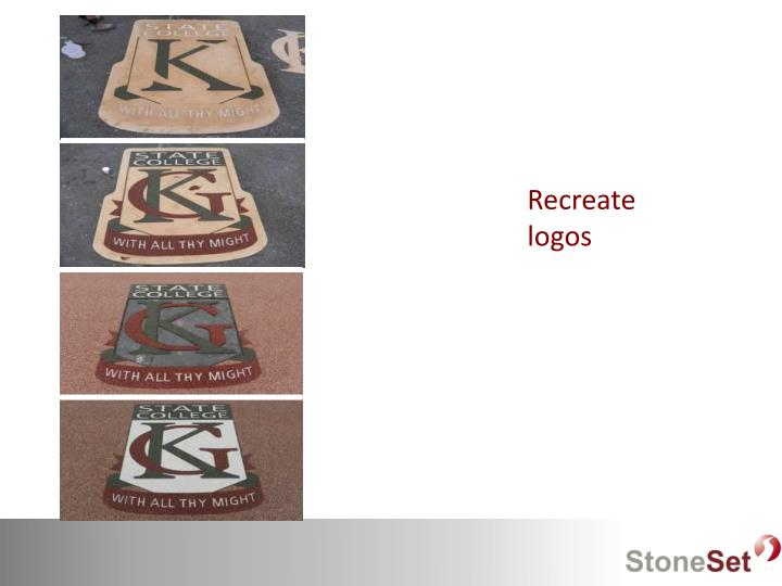 Recreate logos