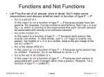 functions and not functions