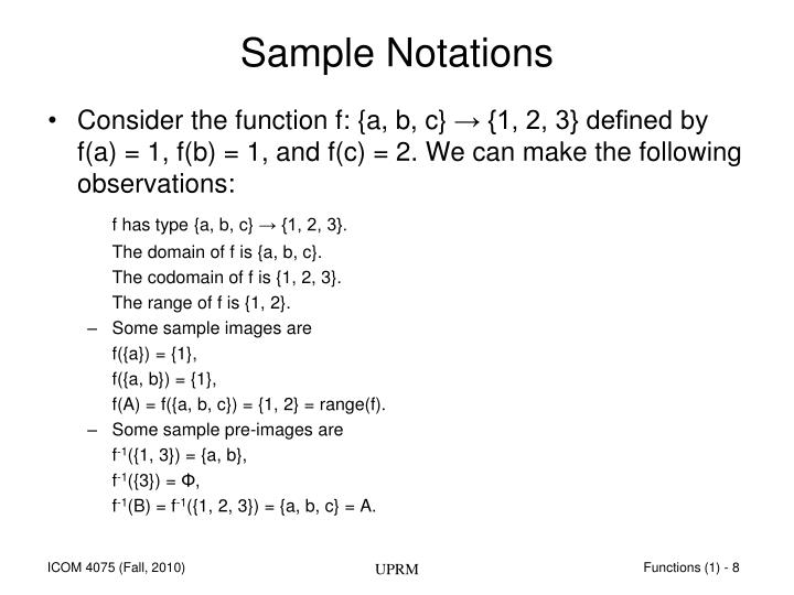 Sample Notations