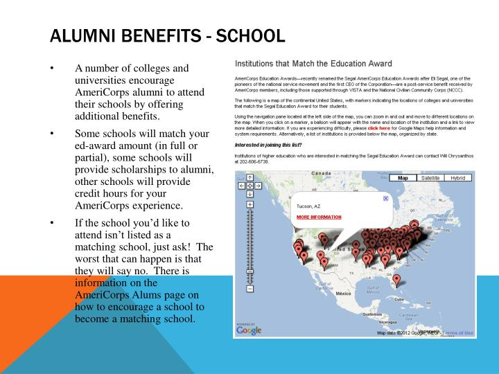 Alumni benefits - school