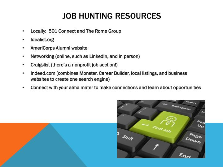 job hunting resources