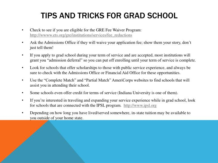Tips and tricks for grad school